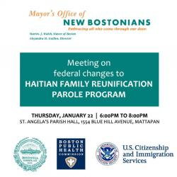 info on haitian family reunification parole plan meeting