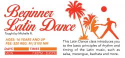 latin dance flyer