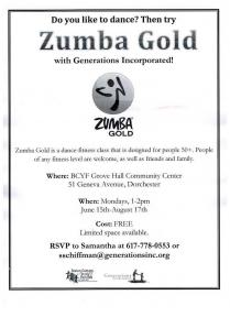 zumba gold flyer