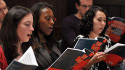 Cantata Singers in rehearsal