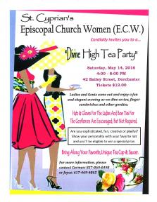 Divine High Tea Party | May 14 | MyDorchester