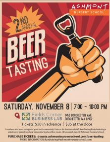 2nd Annual ANS Beer Tasting | Nov. 8
