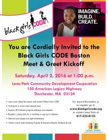 Black girls code boston meet greet kickoff april 2 mydorchester black girls code boston meet greet kickoff april 2 m4hsunfo