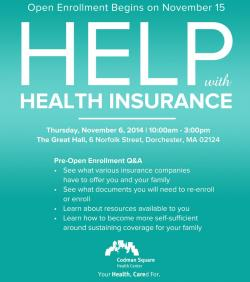 Help with Health Insurance-Pre-Open Enrollment Q&A Session  | Nov. 6