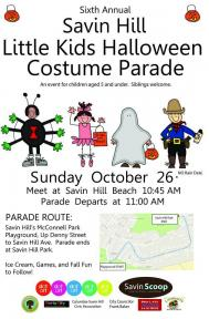 Sixth Annual Savin Hill Little Kids Halloween Costume Parade | Oct. 26