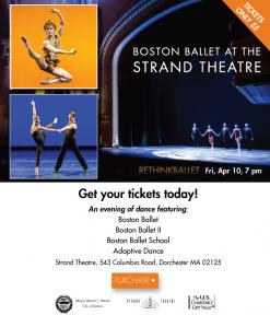 flyer for strand theatre boston ballet