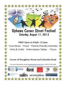 Upham's Corner Street Fest 8/17/2103