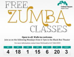 zumba classes flyer