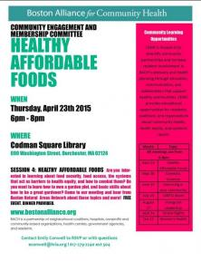 healthy affordable foods flyer