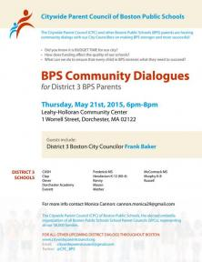 bps community dialogue flyer