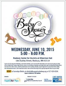 community baby shower flyer