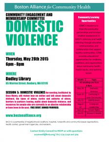 domestic violence flyer