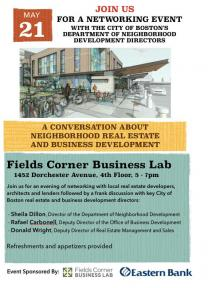flyer on real estate networking event