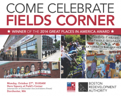 Celebrate With Fields Corner | Oct. 27