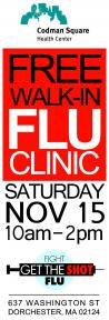 FREE Walk-In Flu Clinic | Nov. 15