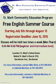 flyer for free ESL