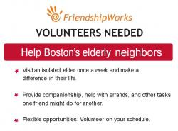 friendshipworks volunteer flyer