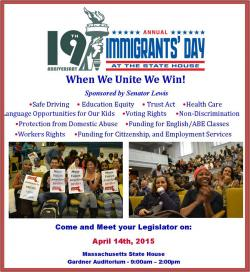 immigrants day flyer