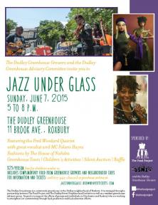 flyer for jazz under glass