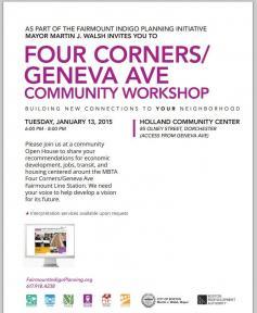Four Corners, Geneva Ave, Community, Workshop