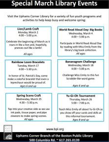 special march events flyer