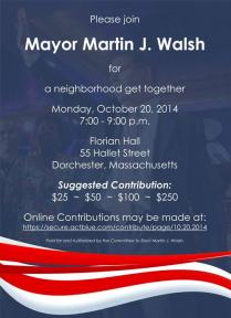 A Neighborhood Get Together With Mayor Walsh