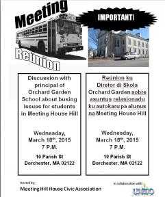 flyer for community meeting