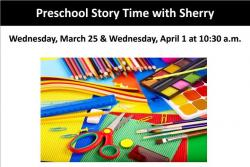 flyer for preschool story time