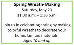 spring wreath making
