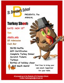 St. Brendan's School Annual Turkey Shoot | Nov. 15