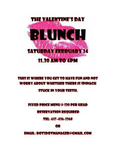 Valentines Day BLUNCH flyer