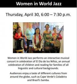 women in world jazz flyer