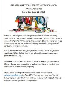 neighborhood yard sale flyer