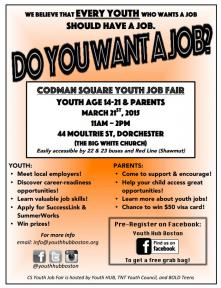 youth job fair flyer