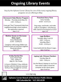may youth programs flyer