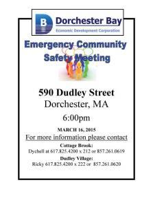 community meeting flyer
