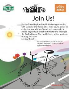 community bike ride flyer