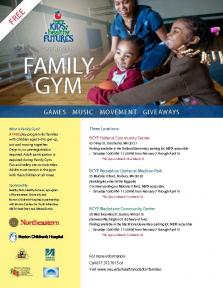 family gym flyer