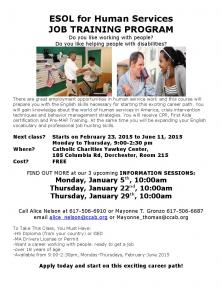 ESOL for Human Services Information Session