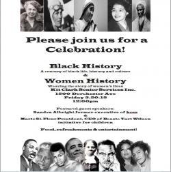 black and womens history flyer