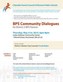 bps community dialogue flyer