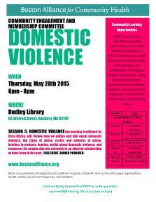 domestic violence flyer
