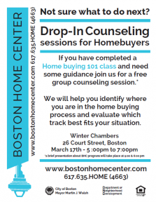 flyer for homebuying counseling