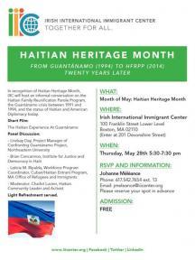 IIIC Haitian Heritage Month flyer