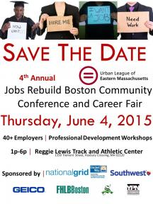 flyer for community conference and career fair