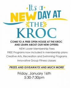 KROC center open house info