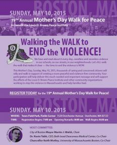 mothers day walk for peace flyer