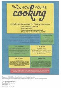 cooking workshop flyer