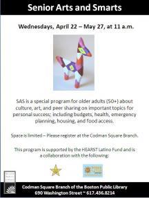 senior arts and smarts flyer