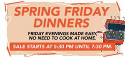 spring friday dinners graphic